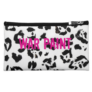 Black and pink medium sized make up bag cosmetics bags