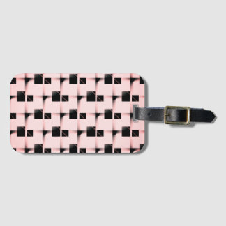 Black and Pink Pattern Luggage Tag