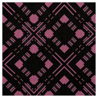 Black and pink plaid fabric