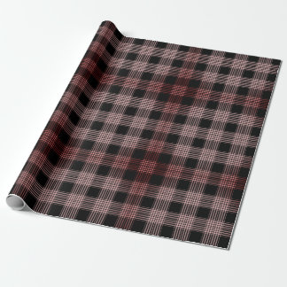 Black and Pink Plaid Wrapping Paper
