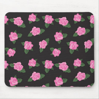 Black and pink rose mousepad