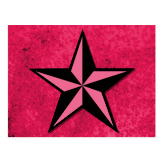 Black and Pink Star Postcard