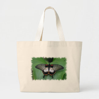 Black and Pink Swallowtail Butterfly  Canvas Bag