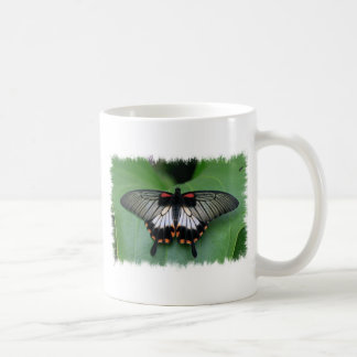 Black and Pink Swallowtail Butterfly Coffee Mug