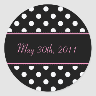 Black And Pink Sweet Sixteen Date Envelope Seal