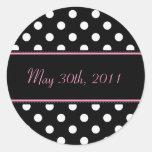 Black And Pink Sweet Sixteen Date Envelope Seal Sticker