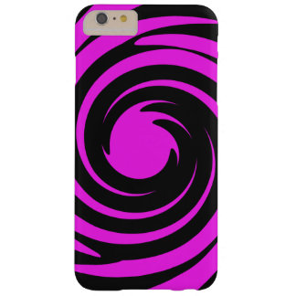 Black and pink swirl barely there iPhone 6 plus case