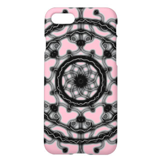Black and Pink ~Tech~Lace~ Bloom ~ iPhone 8/7 Case