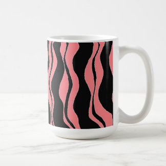 Black and Pink Zebra Stripes Coffee Mug