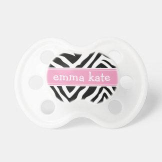 Black and Pink Zebra Stripes Monogram Dummy