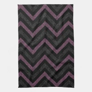 Black and purple chevron kitchen towel