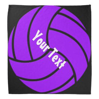 Black and Purple Custom Volleyball Bandana