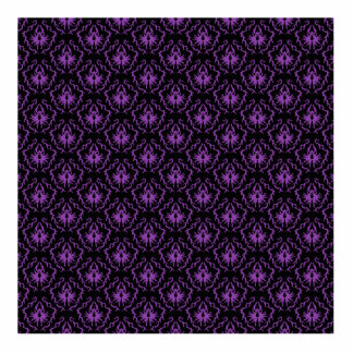 Black and Purple Damask Pattern. Gothic. Standing Photo Sculpture