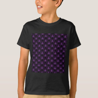 Black and Purple Damask Pattern. Gothic. T-Shirt