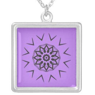 Black and purple design necklace