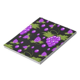 black and purple grape vine notepad