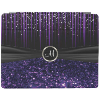 Black and Purple Leopard and Starlight Pattern iPad Cover