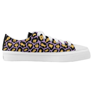 Black and Purple Leopard Print Printed Shoes