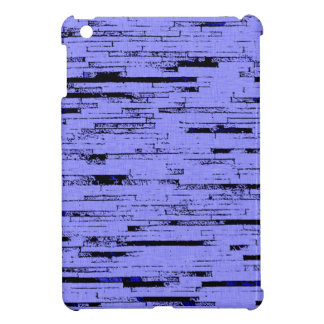 Black and purple lines art old wall bricks pattern iPad mini cases