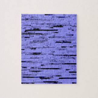 Black and purple lines art old wall bricks pattern jigsaw puzzle