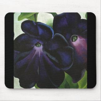 Black-and-Purple-Petunias Mouse Pad