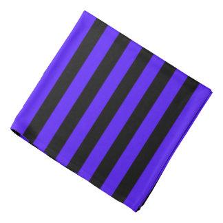 Black and Purple Striped Bandana
