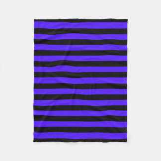 Black and Purple Striped Fleece Blanket