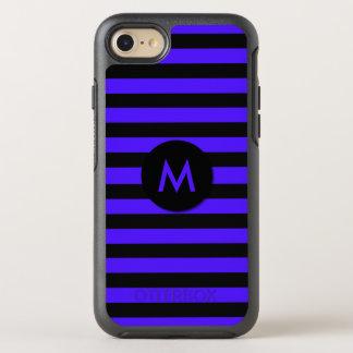 Black and Purple Striped Monogram OtterBox Symmetry iPhone 8/7 Case