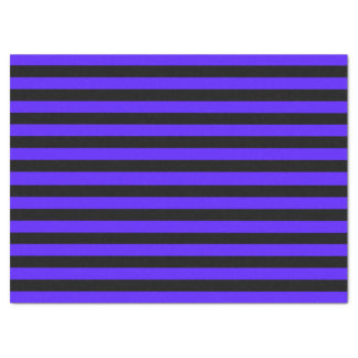 Black and Purple Striped Tissue Paper