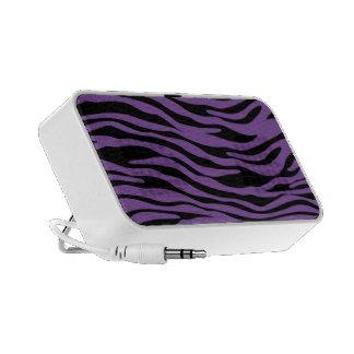 Black and Purple Zebra Stripe Doodle Speakers