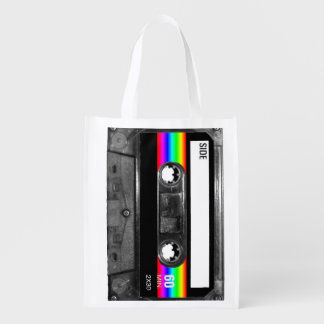 Black and Rainbow Stripe Label Cassette