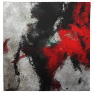 Black and Red Abstract Art Napkin