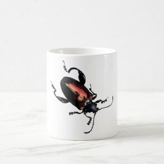 Black and Red Beetle bug Coffee Mug