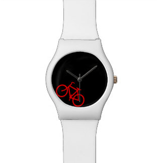 Black and Red Bike Watch