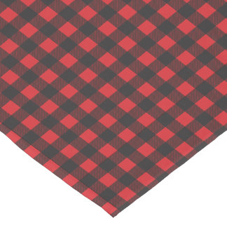 Black and Red Buffalo Check Plaid Short Table Runner