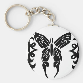 black and red butterfly key chain