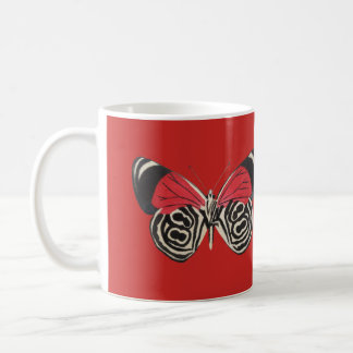 Black and Red Butterfly Mug