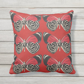 Black and Red Butterfly Pillow