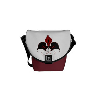 Black and Red Calla Lily Vector Design Commuter Bag