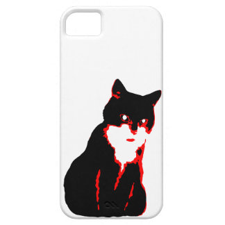 Black and red cat case iPhone 5 cover