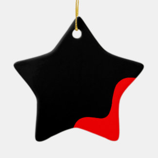 Black and red ceramic star decoration