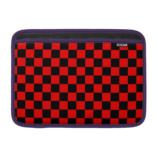 Black and Red Checkered Pattern Sleeve For MacBook Air
