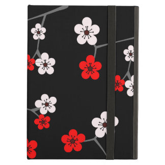 Black and Red Cherry Blossom Print Case For iPad Air