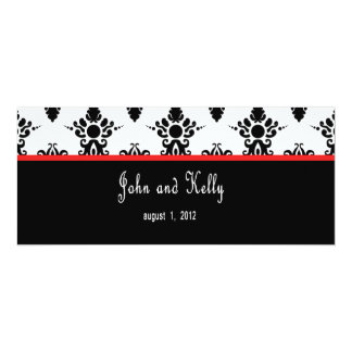 Black and Red Damask Invitation