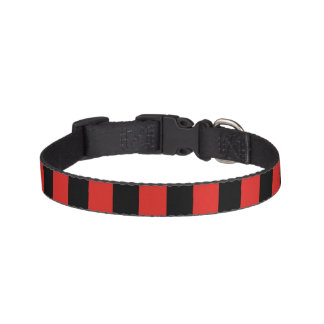 Black and Red Dog Collar