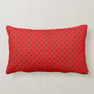 Black and Red Dots Lumbar Pillow