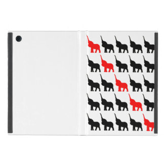 Black and Red Elephant  pattern case iPad Mini Case