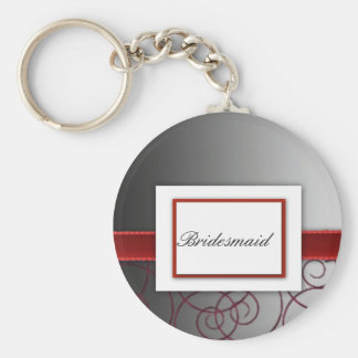 Black  and red graduated wedding set keychains
