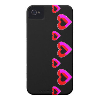 Black and red Hearts BlackBerry Bold Case-Mate iPhone 4 Cases