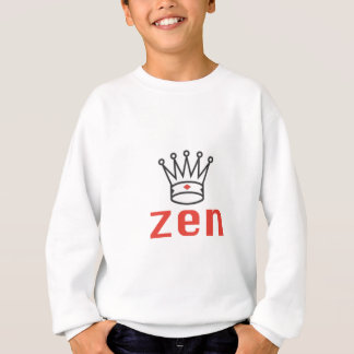 BLACK AND RED KING ZEN MEDITATION AND INTUITION SWEATSHIRT